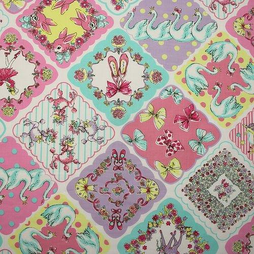 Joli Fleur La Toile (ジョリーフルールラトワール)×MUTTI 生地 Million Kisses 【Pastel Fantasy】 110�×50�ジョリーフルール