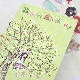 英国 Belle&Boo バースデーカード 【木と少女】