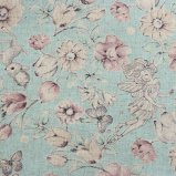 Joli Fleur La Toile×MUTTI  綿麻シーチング Today Was A Fairytale 【Celeste Blue】 110�×50�
