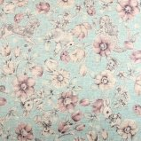 Joli Fleur La Toile×MUTTI  ラミネート生地 Today Was A Fairytale 【Celeste Blue】 110�×50�
