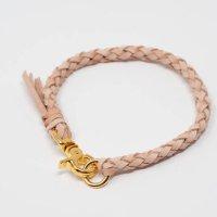 牛革手編みチョーカー17cm〜20cm国産(6本編み)