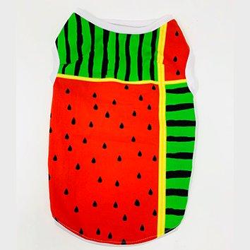 夏!! スイカ TシャツS 限定デザイン(フレブル対応 着丈33.5cm 胴回り47cm 首回り34cm)