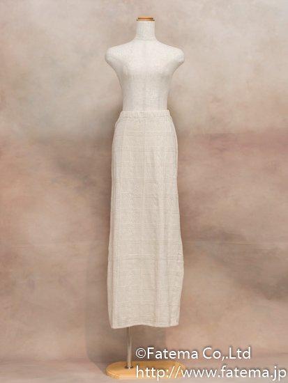 レディース ペルー綿100% ロングスカート M (ナチュラル)