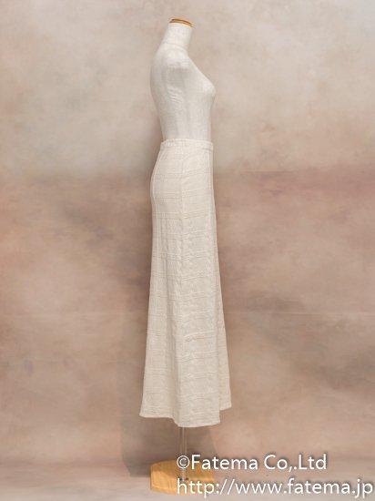 レディース ペルー綿100% ロングスカート Mサイズ (ナチュラル) 1-19-04029-1