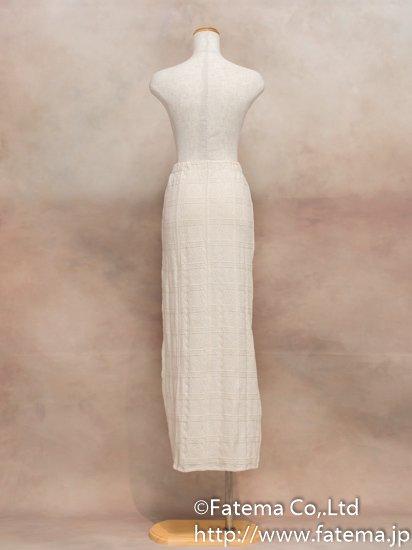 レディース ペルー綿100% ロングスカート Lサイズ (ナチュラル) 1-19-04029-2