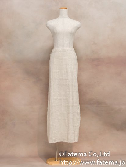 レディース ペルー綿100% ロングスカート XLサイズ (ナチュラル) 1-19-04030-1