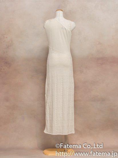 レディース ペルー綿100% ロングドレス Mサイズ (ナチュラル) 1-19-04037-2