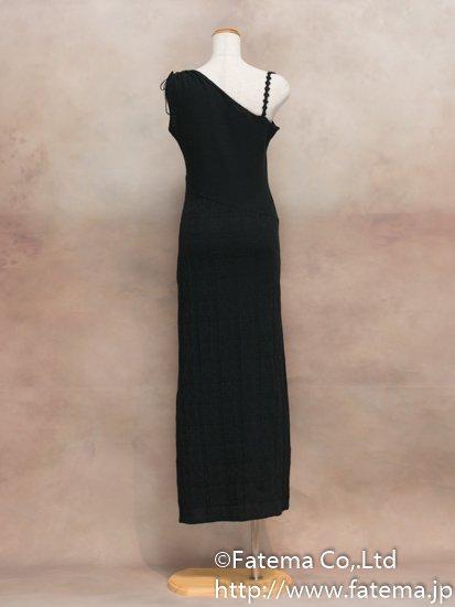 レディース ペルー綿100% ロングドレス Sサイズ (黒) 1-19-04055-1