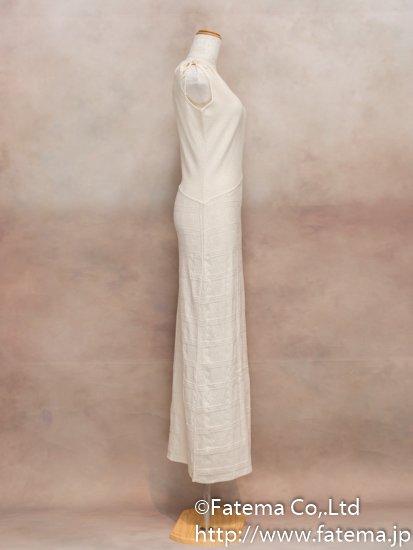 レディース ペルー綿100% ロングドレス Lサイズ (ナチュラル) 1-19-04039-3