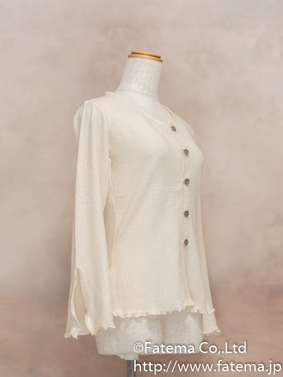 レディース ペルー綿100% セーター Lサイズ (ナチュラル) 1-19-04043-2