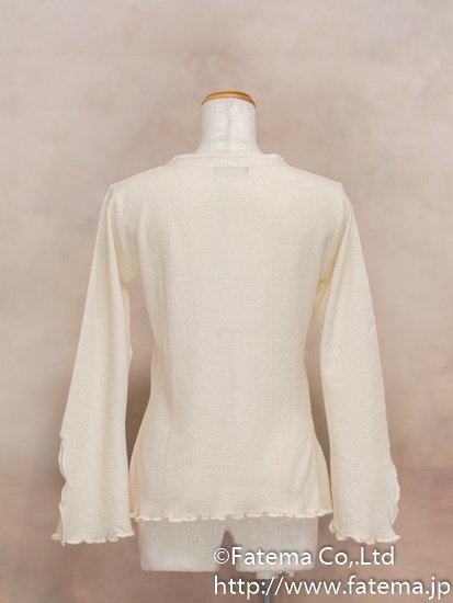 レディース ペルー綿100% セーター XLサイズ (ナチュラル) 1-19-04044-1