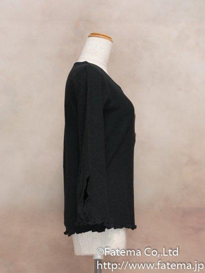 レディース ペルー綿100% セーター XLサイズ (黒) 1-19-04062-1
