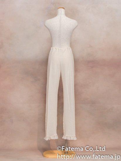レディース ペルー綿100% パンツ XLサイズ (ナチュラル) 1-19-04046-1