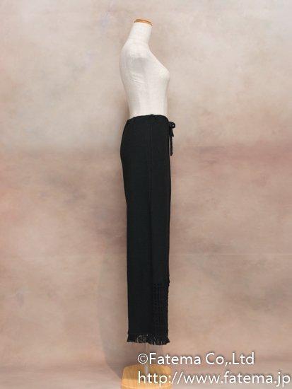 レディース ペルー綿100% パンツ Mサイズ (黒) 1-19-04063-2