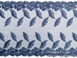 オーガンジー刺繍レース(ネイビー)