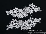 花柄刺繍モチーフ2個セット