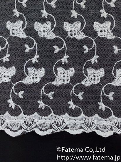 チュール刺繍レース 10-05113-43