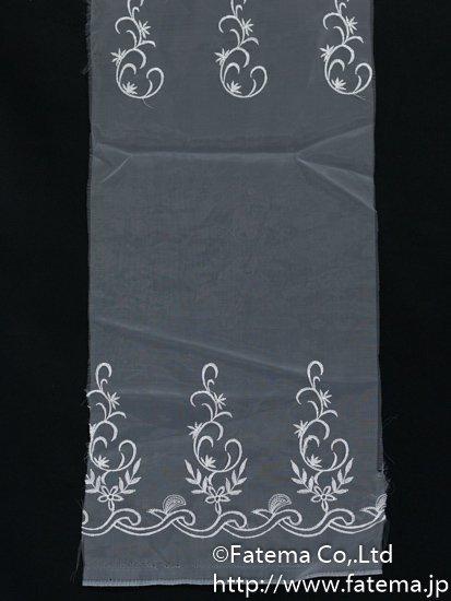 刺繍オーガンジー生地 10-05113-44