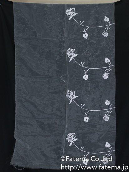 刺繍オーガンジー生地 10-05113-50