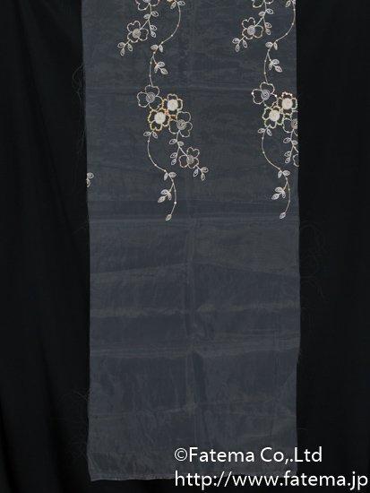刺繍オーガンジー生地(スパンコール付き) 10-05113-54