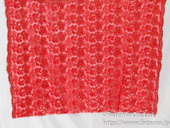 チュール刺繍レース(スパンコール付き) 10-05121-1