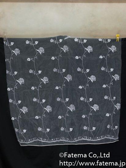 刺繍オーガンジー生地 10-05125-1