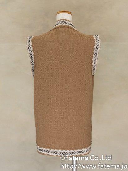 レディース アルパカ100%ベスト XLサイズ 1-19-04073-3