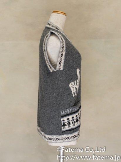 レディース アルパカ100%ベスト XLサイズ 1-19-04074-3