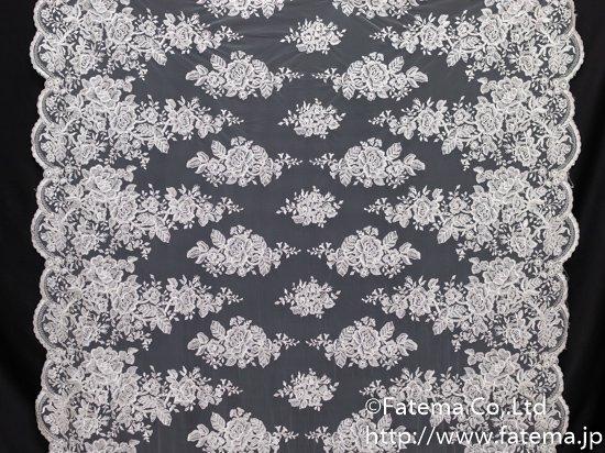 チュ−ル刺繍レース(透明スパンコール付き) 10-05130-1