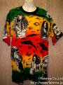 ボブマーリー・ラスタカラー コットンT−シャツ