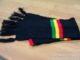 ラスタカラー 手編みマフラー