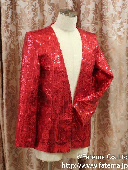 マイケルジャクソン風舞台衣装(赤色) 9-4269-4