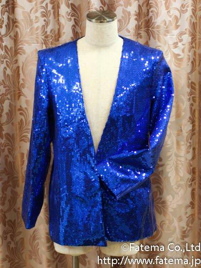 マイケルジャクソン風舞台衣装(青色) 9-4269-5