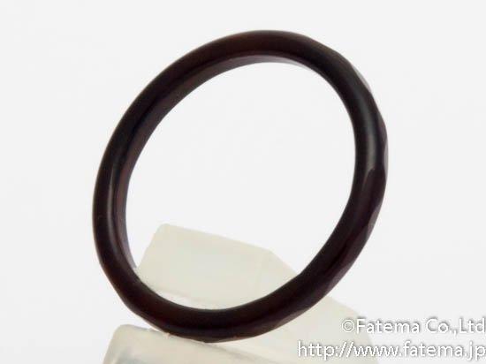 天然石 瑪瑙(アゲート)指輪 黒