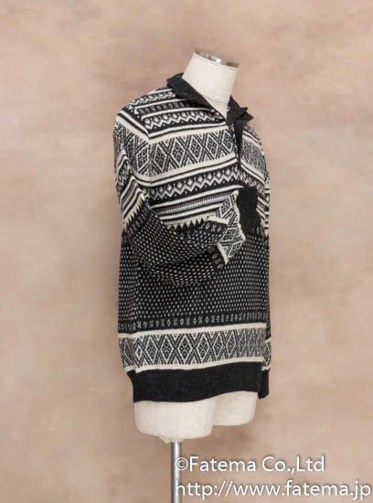 メンズ ベビーアルパカ100% セーター Mサイズ 1-19-04015-1