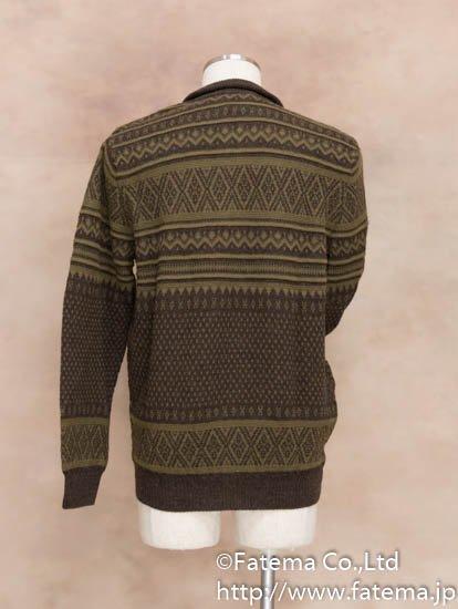 メンズ ベビーアルパカ100% セーター 1-19-04015-2