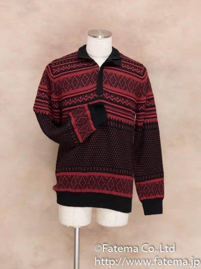 メンズ ベビーアルパカ100% セーター 1-19-04015-3