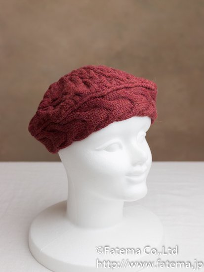 ベビーアルパカ100% ベレー帽 1-19-11006-2