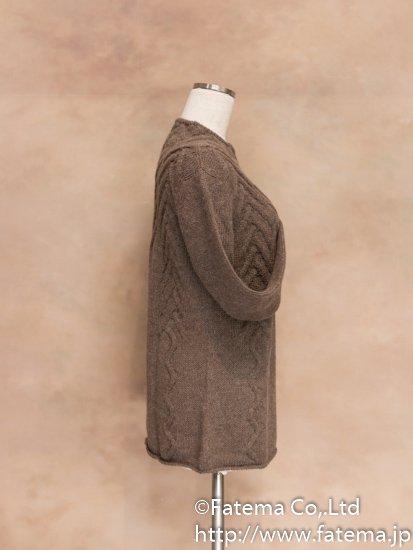 レディース ベビーアルパカ100% セーター Mサイズ 1-19-04017-2