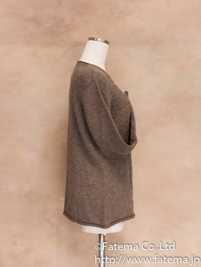 レディース ベビーアルパカ100% セーター Lサイズ 1-19-04017-3