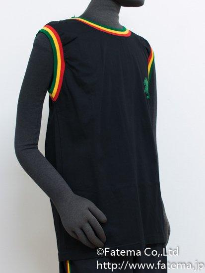 ラスタカラー コットンノースリーブT−シャツ 1-4200-35