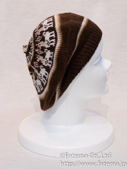 アルパカ ベレー帽 1-19-11018-17
