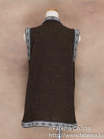 レディース アルパカ100%ベスト XLサイズ 1-19-04028-1