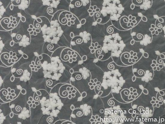 オーガンジー刺繍レース 10-05021-1