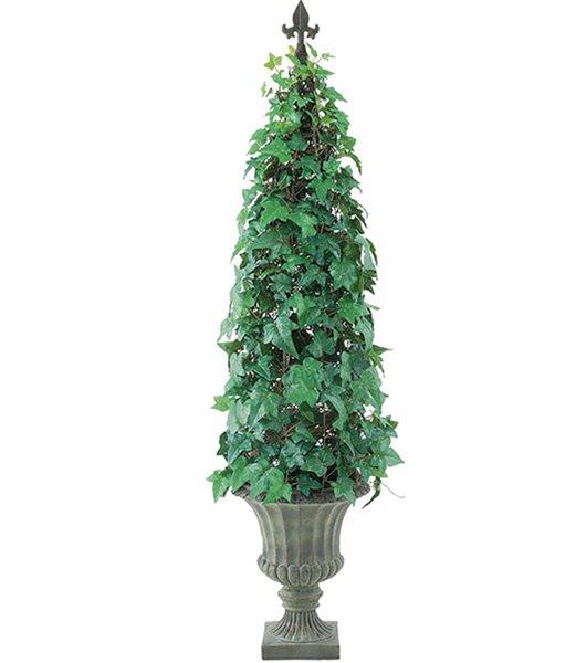 造花観葉植物、フェイクフード、装飾飾付販売緑花堂の120cm アイビーコーン(ポット付き)