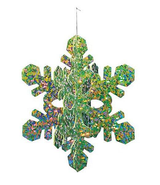 【全品30%以上OFF!】【送料540円沖縄除く】クリスマスツリー飾り 45cm 立体レザースノーフレーク