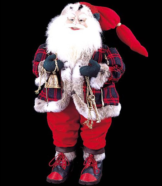 クリスマス装飾 85cm スタンディングサンタウィズベル