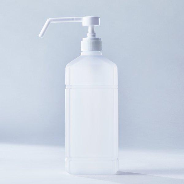 アルコール消毒用ポンプ+1L PEボトル(10本セット)(空容器)