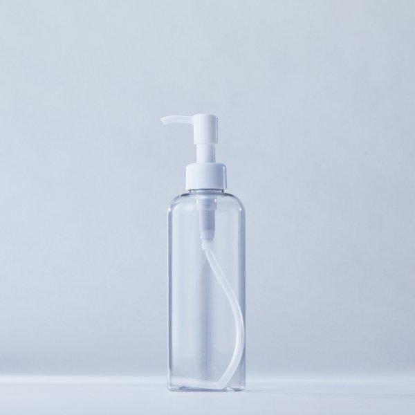 ストッパータイプ1ccポンプディスペンサー白+250mlPETボトル容器(100本セット)