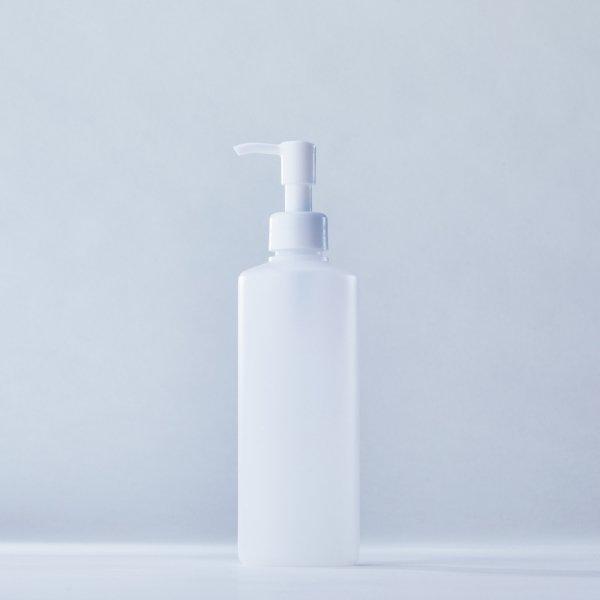 ストッパータイプ1ccポンプディスペンサー白+300mlPEボトル容器100本セット(ロット1000本以上)